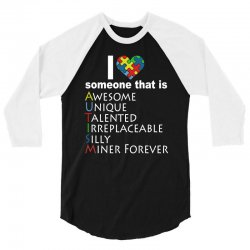 love   autism awareness t shirt 3/4 Sleeve Shirt | Artistshot