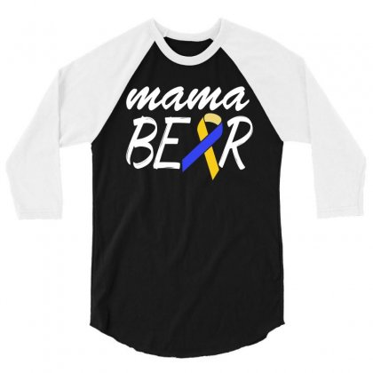 Down Syndrome Awareness Shirts   Down Syndrome Mama 3/4 Sleeve Shirt Designed By Hung