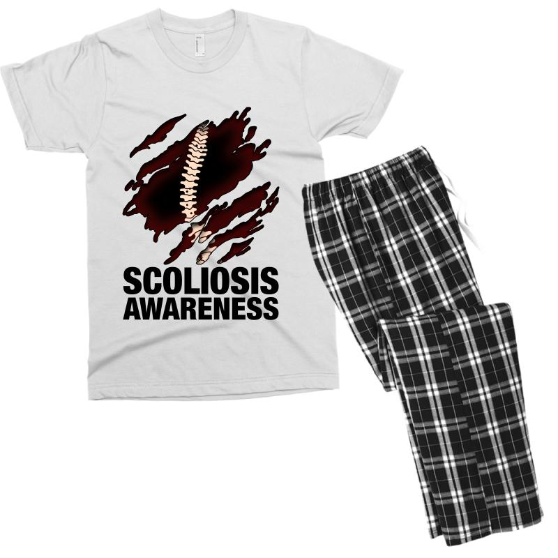 09aa2712 Custom Scoliosis Awareness For Light Men's T-shirt Pajama Set By Nurbetulk  - Artistshot