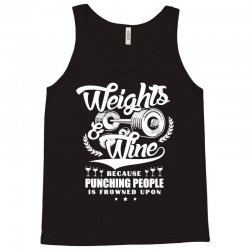 weights and wine t shirt Tank Top | Artistshot