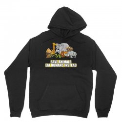 save animals eat humans instead t shirt Unisex Hoodie | Artistshot