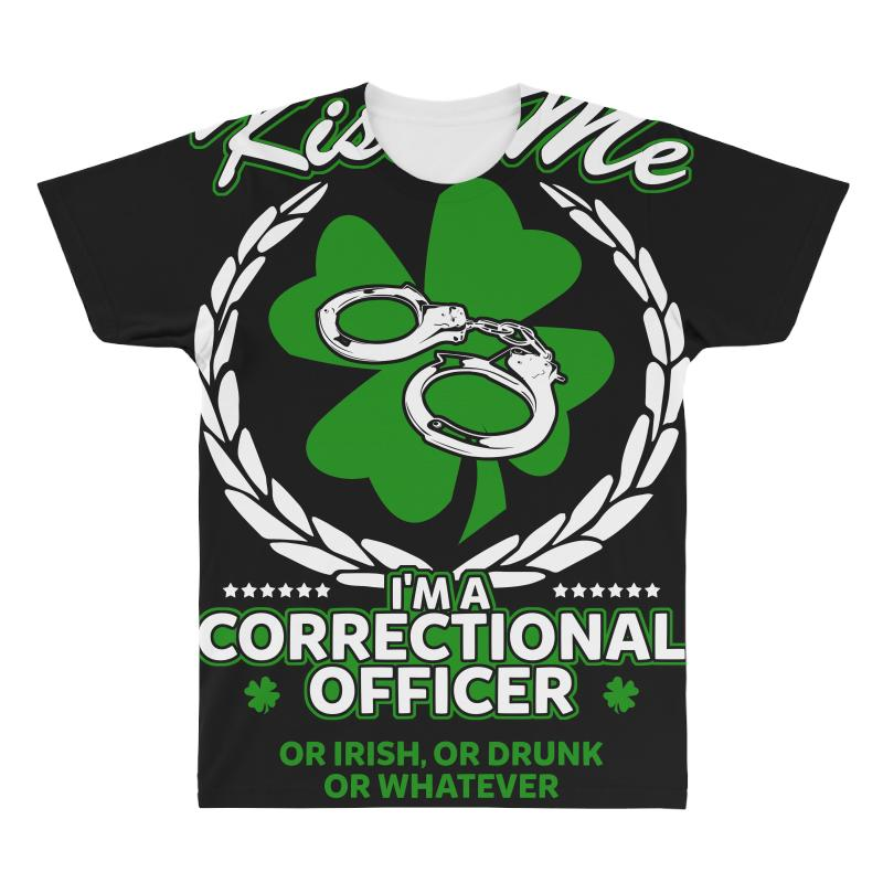 738112afc42e Kiss Me I M Correction Officer Or Irish T Shirt All Over Men's T-shirt