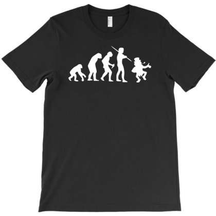Evolution Of Leprechaun Funny Irish Ireland St Patricks Day Us T-shirt Designed By H4syim