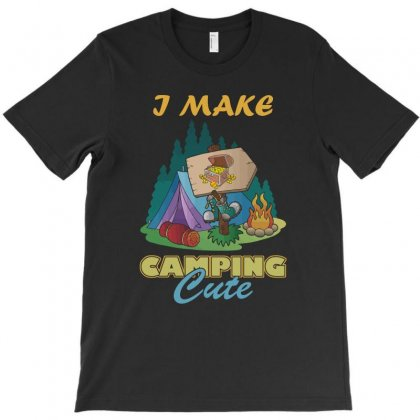 My Camping Is Cute T Shirts, Camping Quote T Shirts T-shirt Designed By Hung