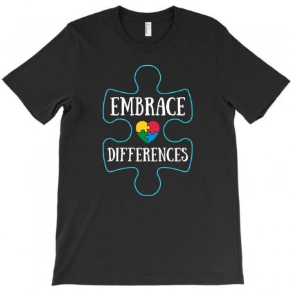 Embrace Differences Autism Awareness T Shirt T-shirt Designed By Hung