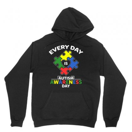 Autism Awareness Day 2019 T Shirt Every Day Is Autism Awareness Day Unisex Hoodie Designed By Hung