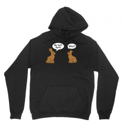 My Butt Hurts   What   Funny Easter Bunny T Shirt Unisex Hoodie Designed By Hung