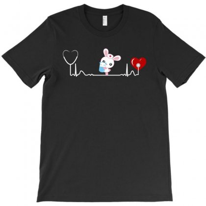 Bunny Nurse Heartbeat Happy Easter Day Funny T Shirt Gift T-shirt Designed By Hung