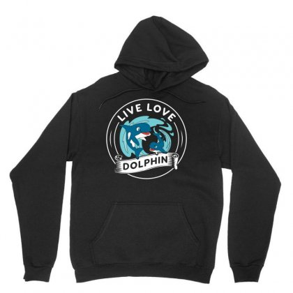 Live Love Dophin Tshirt Unisex Hoodie Designed By Hung