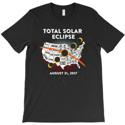 Total Solar Eclipse Map Tshirt T-shirt Designed By Hung