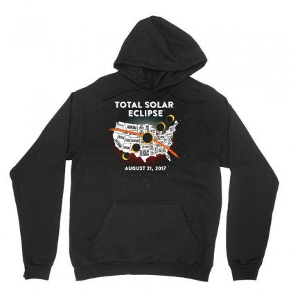 Total Solar Eclipse Map Tshirt Unisex Hoodie Designed By Hung