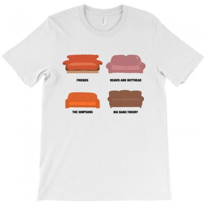 Iconic Tv Show Couches For Light T-shirt Designed By Nurbetulk