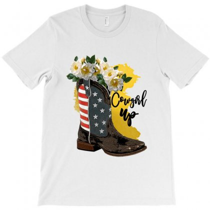 Cowgirl Up T-shirt Designed By Zeynepu