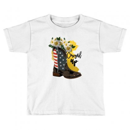 Cowgirl Up Toddler T-shirt Designed By Zeynepu