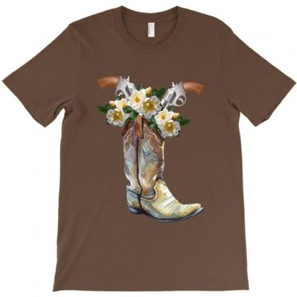 Cowboy Boots T-shirt Designed By Zeynepu