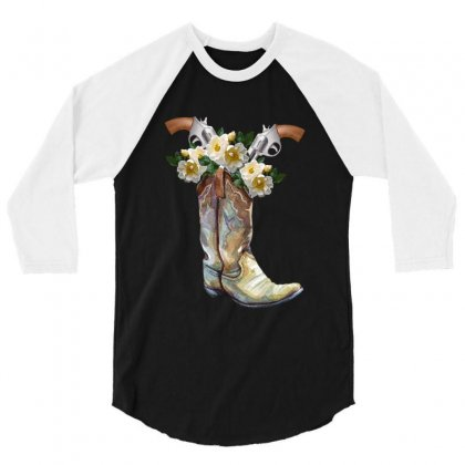 Cowboy Boots 3/4 Sleeve Shirt Designed By Zeynepu