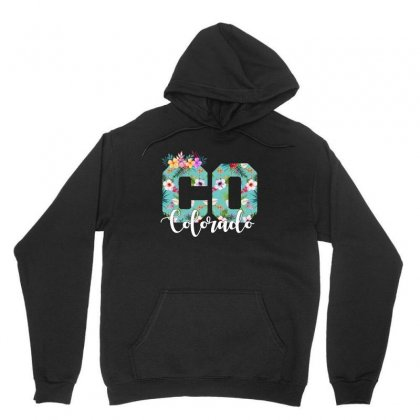 Colorado Floral For Dark Unisex Hoodie Designed By Sengul
