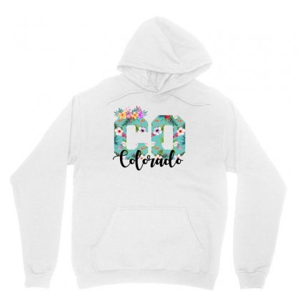 Colorado Floral For Light Unisex Hoodie Designed By Sengul