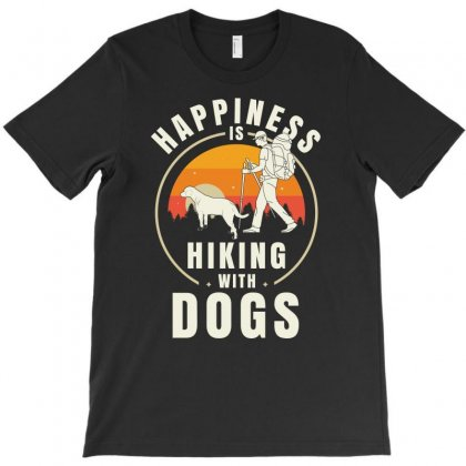 Happiness Hiking With Dogs Tshirt T-shirt Designed By Hung