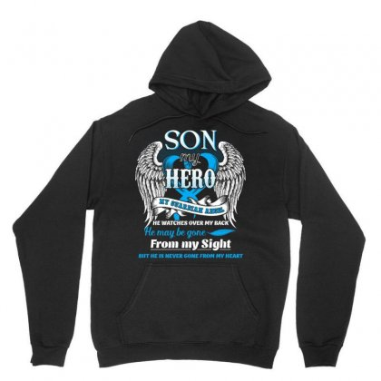 Son Is My Hero My Guardian Angel He Watches Over My Back Tshirt Unisex Hoodie Designed By Hung