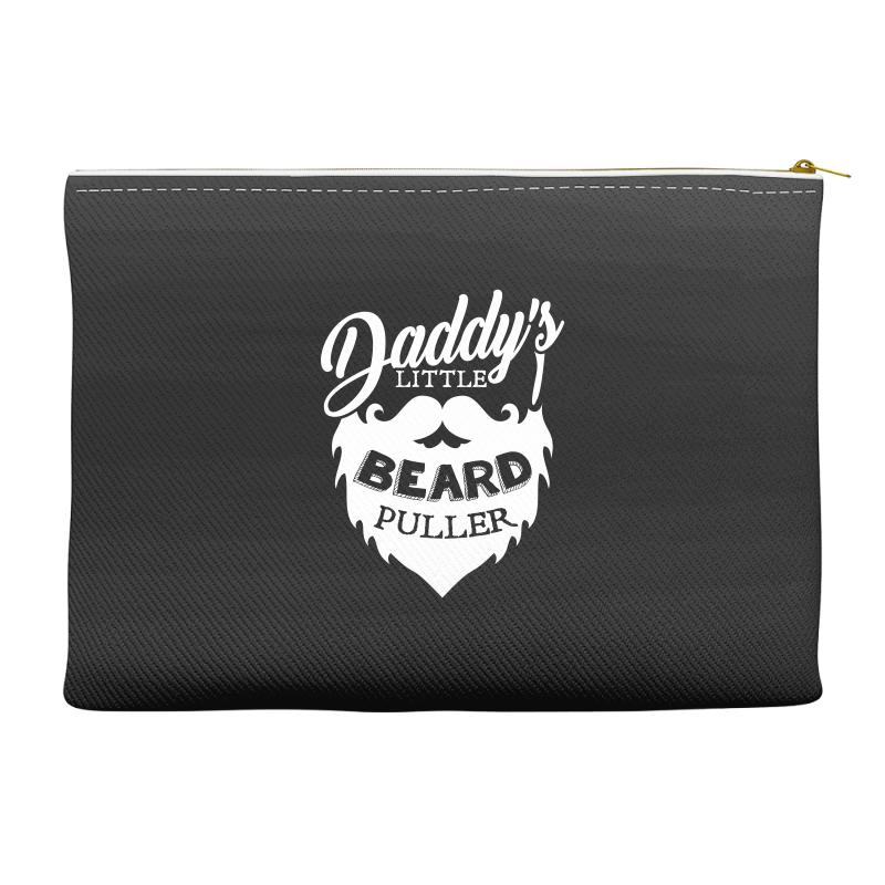 87dc0eb4c Custom Daddy Little Beard Puller Tshirt Accessory Pouches By Hung ...
