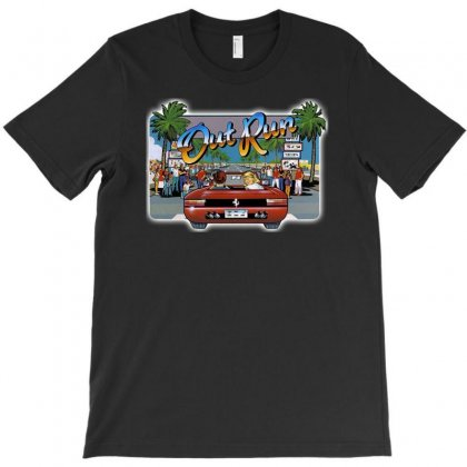 Mens Retro Game Out Run, Ideal Gift Or Birthday Present. T-shirt Designed By H4syim