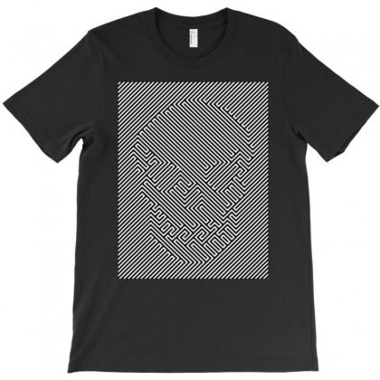 Optical Illusion Skull, Ideal Gift Or Birthday Present. T-shirt Designed By H4syim