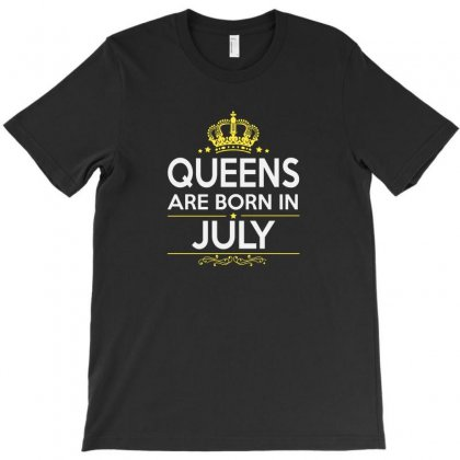 Queens Are Born In July T-shirt Designed By Willo
