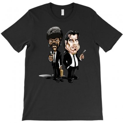Pulp Fiction Caricature Ideal Birthday Gift Present T-shirt Designed By H4syim