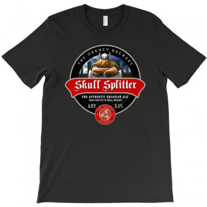 Skull Splitter Beer Label Ideal Birthday Present Or Gift T-shirt Designed By H4syim