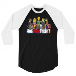 the big bang theory simpsons, ideal gift or birthday present funny 3/4 Sleeve Shirt | Artistshot
