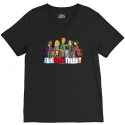 the big bang theory simpsons, ideal gift or birthday present funny V-Neck Tee | Artistshot