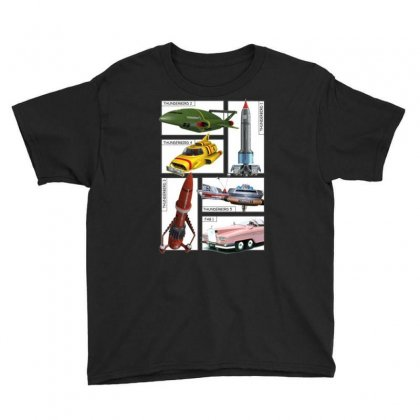 Thunderbirds Vehicles, Ideal Gift, Birthday Present Youth Tee Designed By H4syim