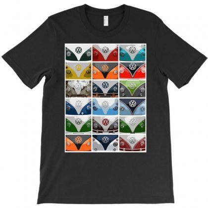 Vw Camper Van Fronts, Ideal Gift Or Birthday Present T-shirt Designed By H4syim