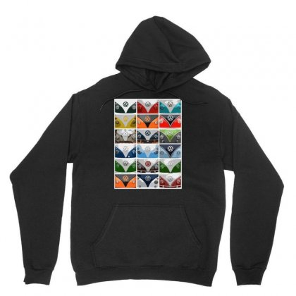 Vw Camper Van Fronts, Ideal Gift Or Birthday Present Unisex Hoodie Designed By H4syim