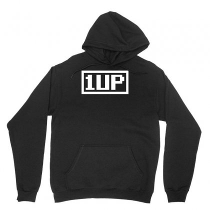 1 Up Funny Video Game Unisex Hoodie Designed By H4syim