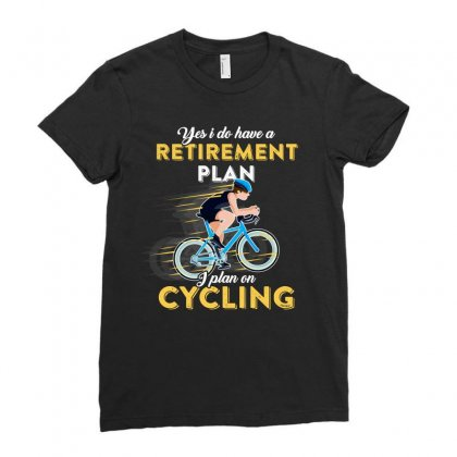 Retirement Plan I Plan On Cycling Tshirt Ladies Fitted T-shirt Designed By Hung