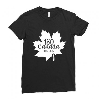 Canada 150 Year 1867 2017 Tshirt Ladies Fitted T-shirt Designed By Hung