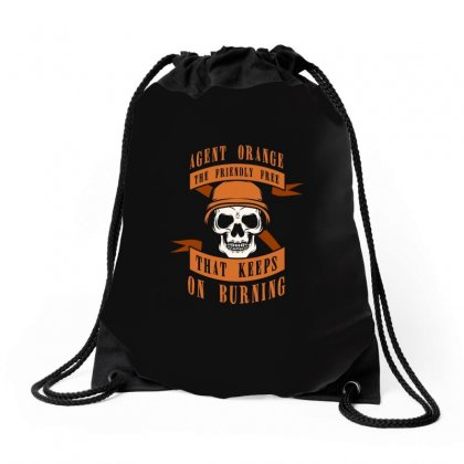 Agent Orange The Friendly Free That Kepps On Burning Tshirt Drawstring Bags Designed By Hung