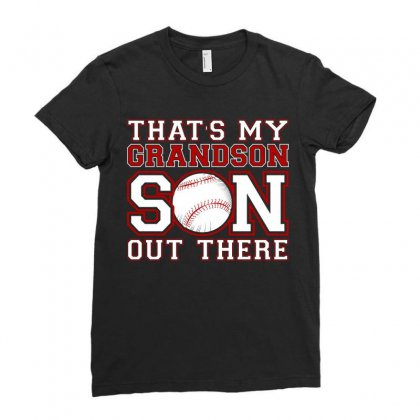 That Is My Grandson Out There Tshirt Ladies Fitted T-shirt Designed By Hung