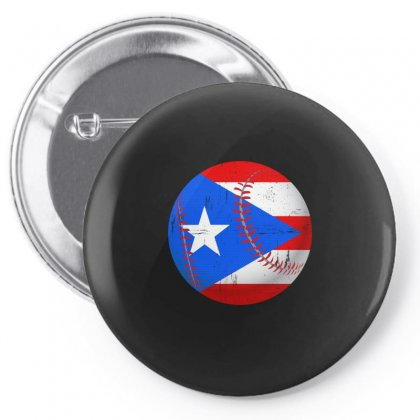 Puerto Rico Baseball Flag T Shirt Pin-back Button Designed By Hung