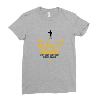 I See A Little Silhouetto Of A Man Ladies Fitted T-shirt Designed By Devanojohnsantos