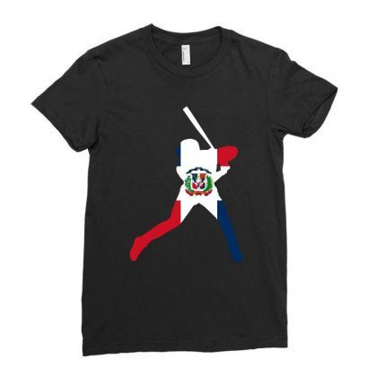 Dominican Republic Baseball Flag Tshirt Ladies Fitted T-shirt Designed By Hung