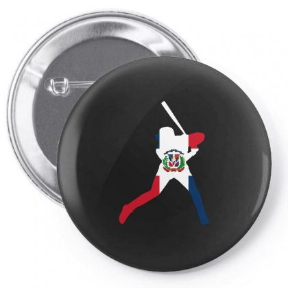 Dominican Republic Baseball Flag Tshirt Pin-back Button Designed By Hung