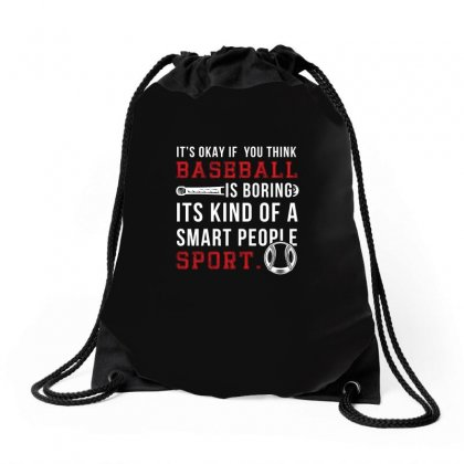 Baseball Smart People Sport Tshirt Drawstring Bags Designed By Hung