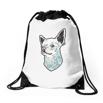 Chihuahua Drawstring Bags Designed By Tiococacola
