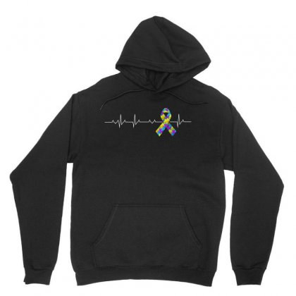 Love Autism Awareness Heartbeat Tshirt Unisex Hoodie Designed By Hung