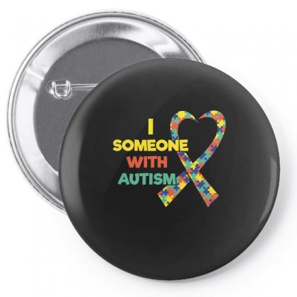 I Love Someone With Autism Awareness Tshirt Pin-back Button Designed By Hung