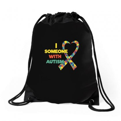 I Love Someone With Autism Awareness Tshirt Drawstring Bags Designed By Hung