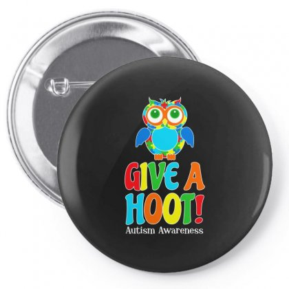 Autism Owl Give A Hoot Awareness T Shirt Pin-back Button Designed By Hung